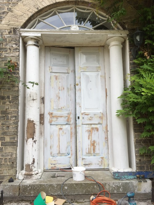 Painting Columns and Doors