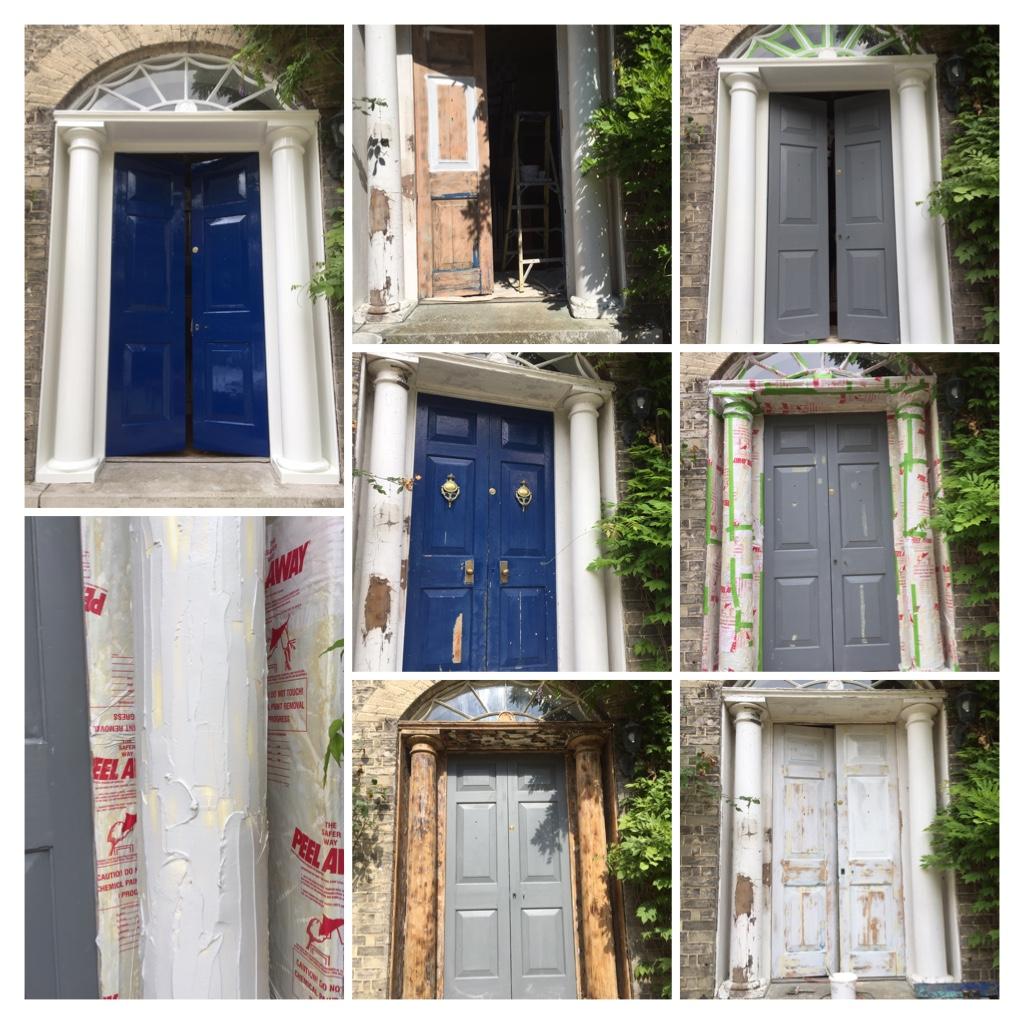 Painting Door Columns