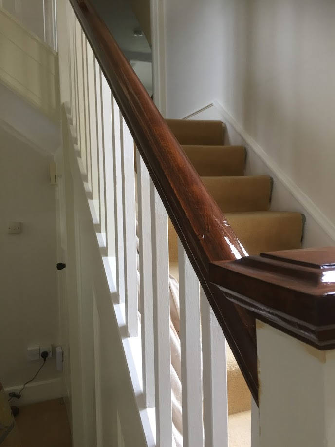 Banister handrail renovation