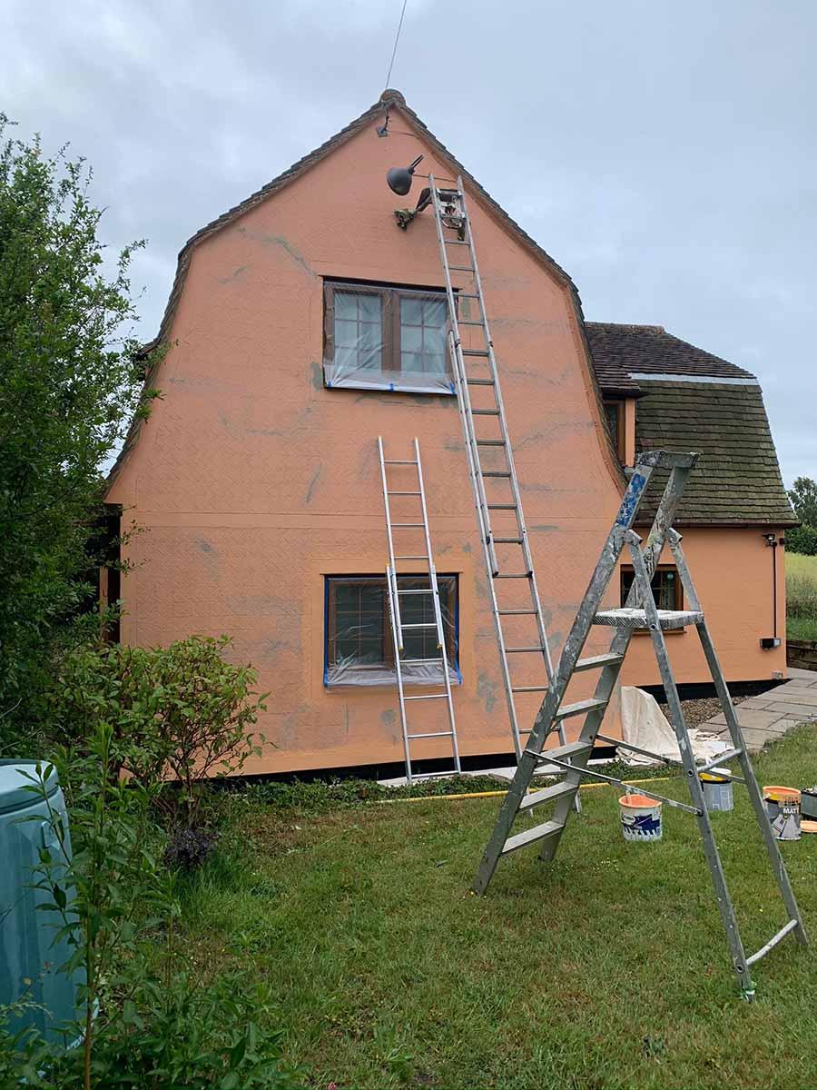 exterior cottage painting prep work